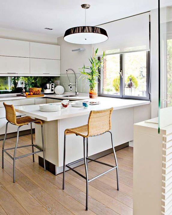 5 dise os de barra para comer en la cocina kitchens - Barra para cocina ...