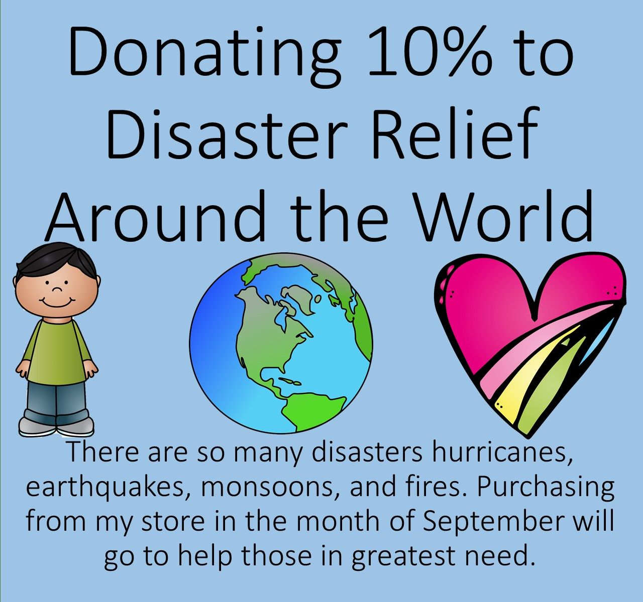 I Am Donating 10 Of All My Earnings For The Month Of September To Victims Of Natural Disasters