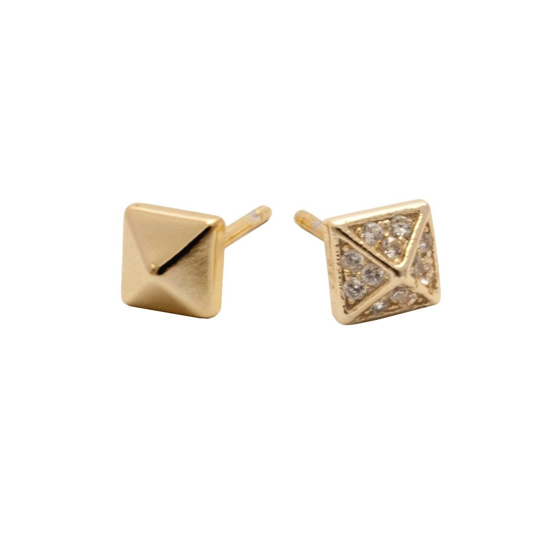 geometric bronze betsy studs iya that mismatched simple fit earrings oss products small minimalist stud modern together
