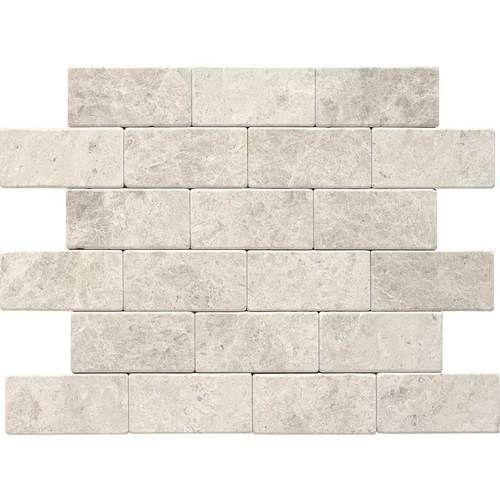 Backsplash Daltile Arctic Gray 3x6 Tumbled Field Tile This Tile Has More