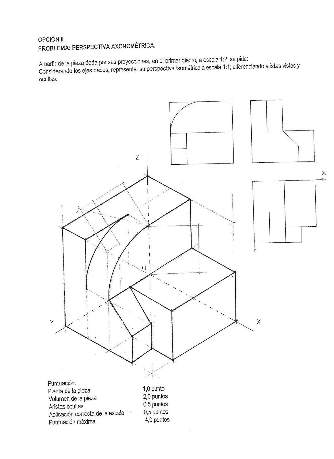 Croquizado Vistas Selectividad Tecnicas De Dibujo Vistas Dibujo Tecnico Ejercicios De Dibujo