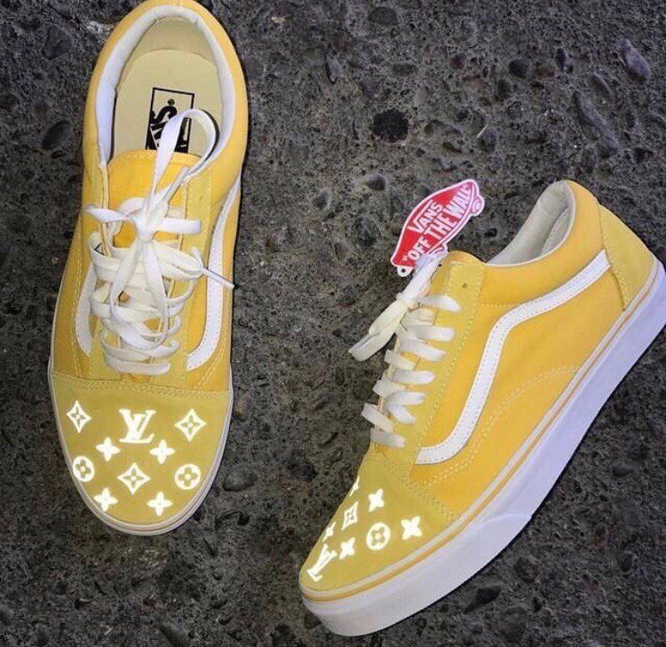 Image Of Louis Vuitton Custom Vans 3M