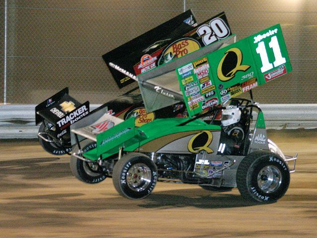 steve kinser two wheelin sprint cars pinterest