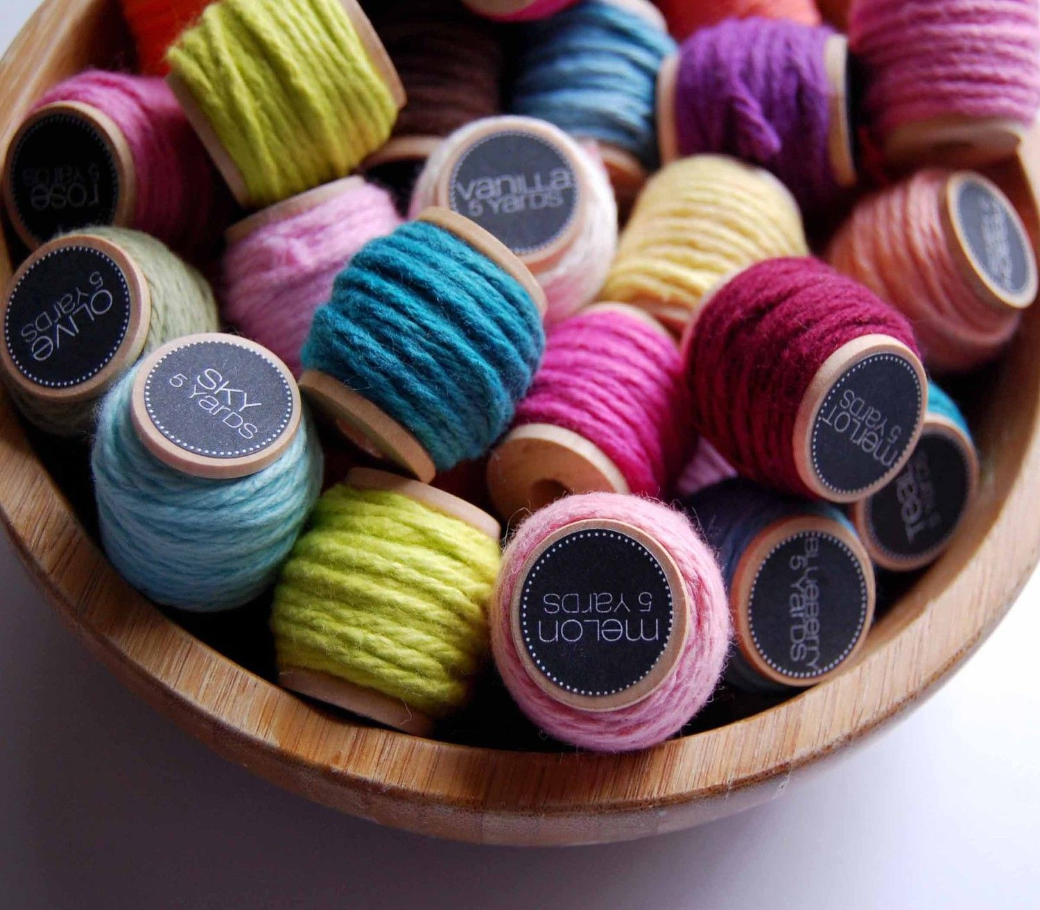 yarn i love yarn lol this would be cute idea to display scraps on