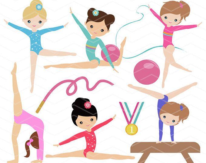 gymnastics digital clipart digital girls gymnastics clip art rh pinterest com digital clipart for teacher digital clipart for teacher