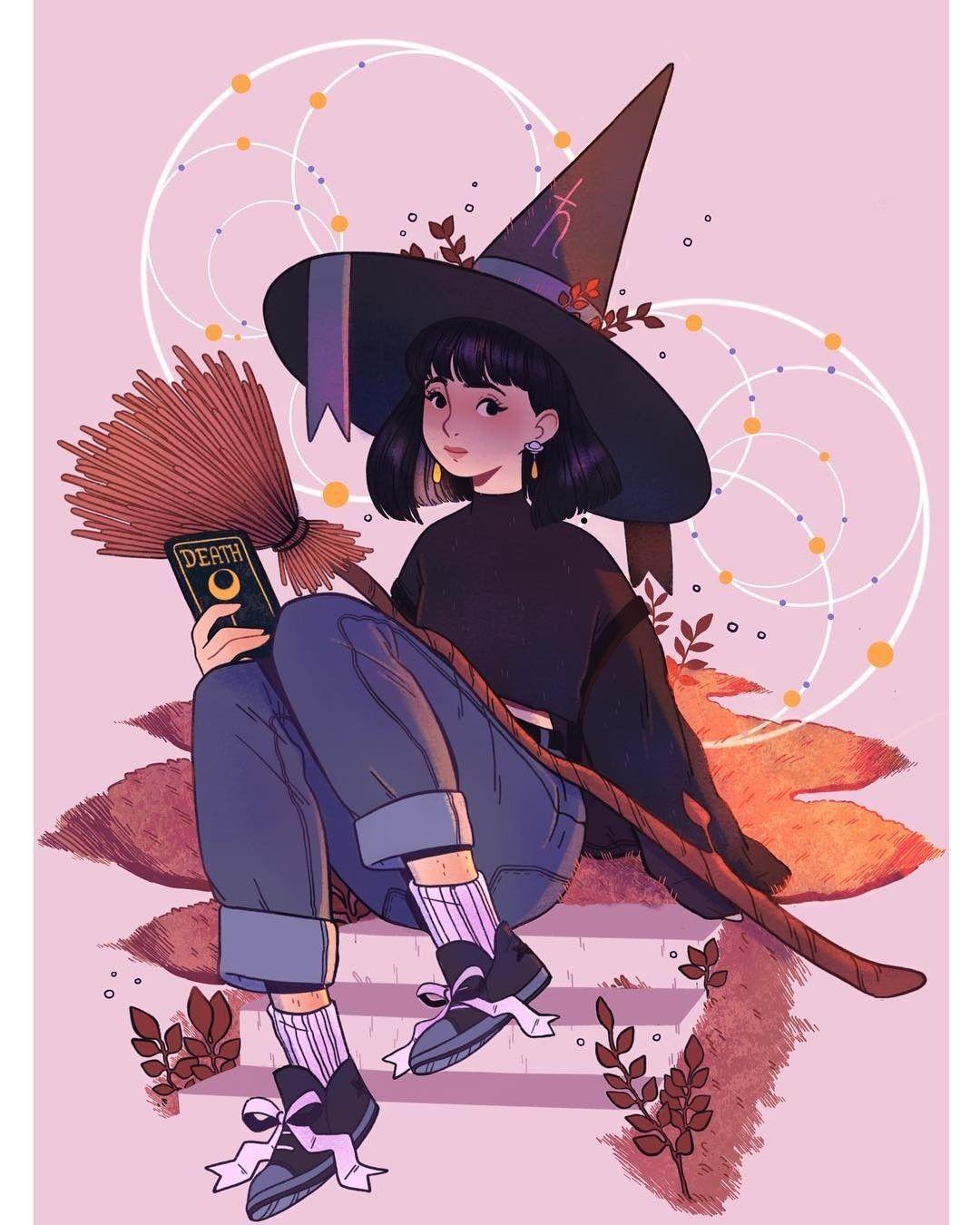 Featured Artist Lanajay Art Witch Art Character Art Cute Art