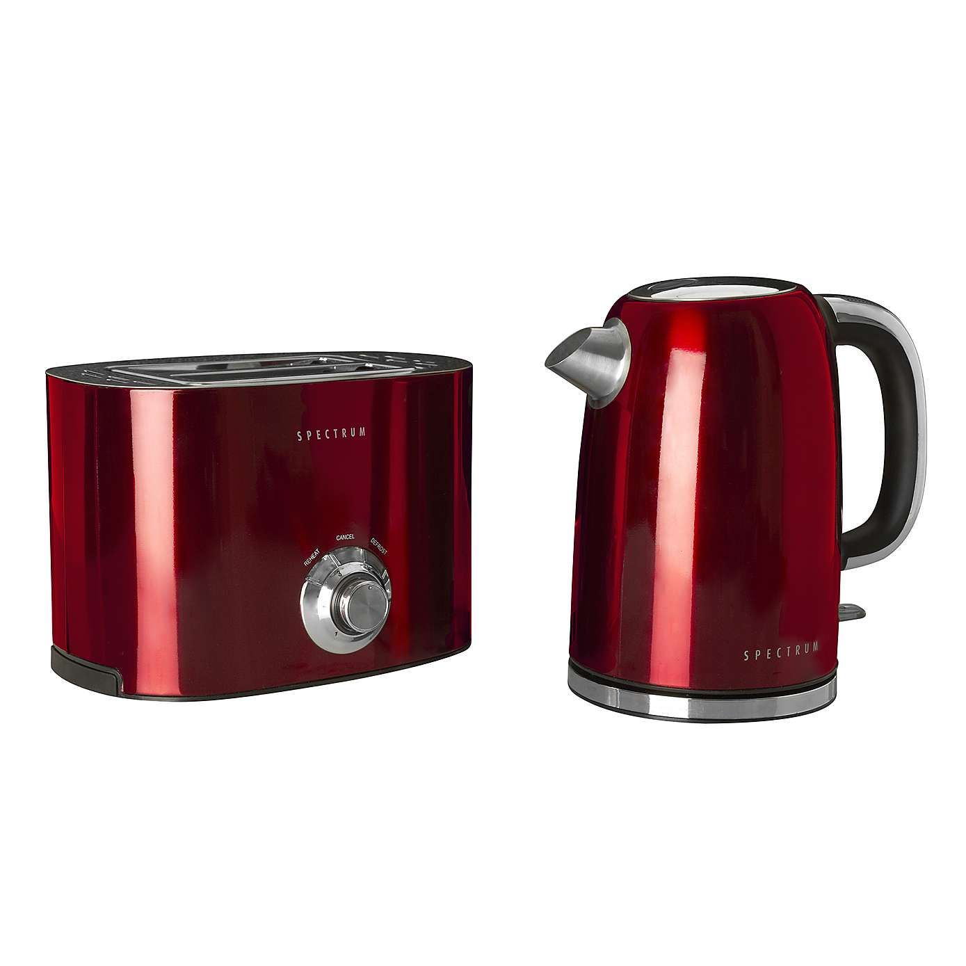 Red Spectrum Kettle and Toaster Set | Kettle and toaster set
