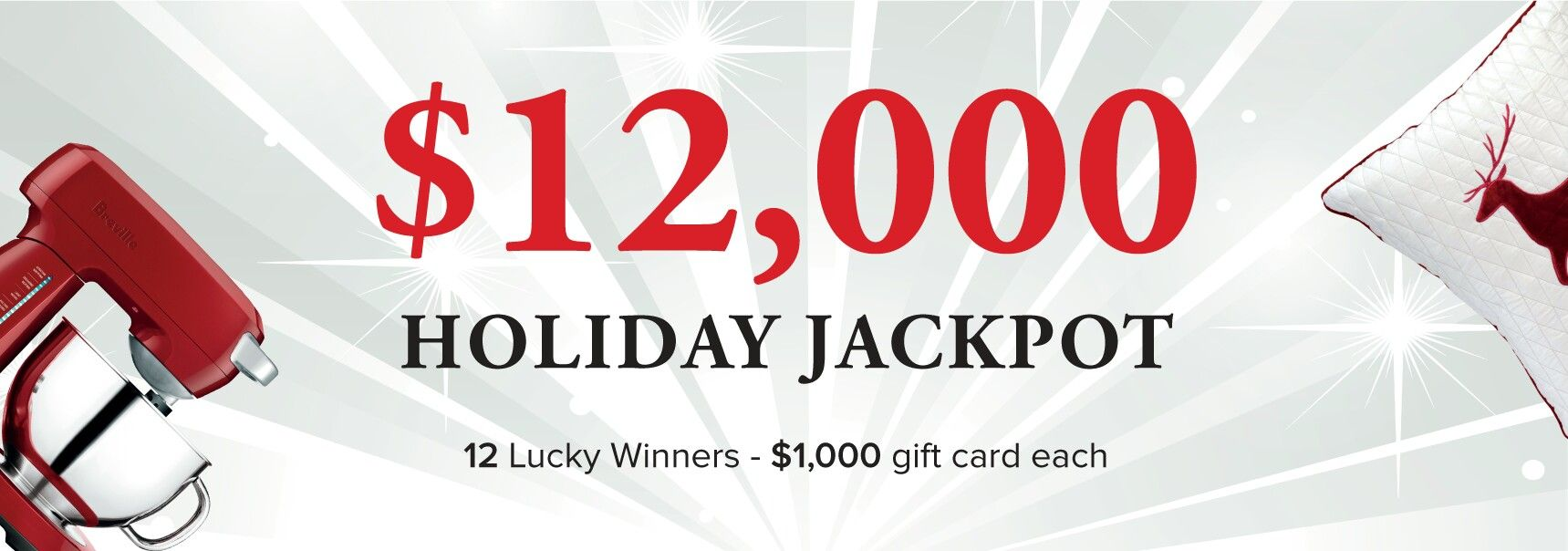 Enter to win 1 of 12 $1,000 prizes in the $12,000 #giveaway from LINENCHEST!