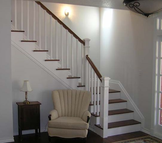 Basement Stair Landing Decorating: Stair Design Ideas: Balusters, Railings, And Posts