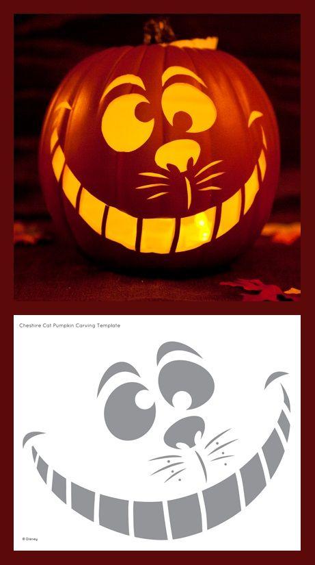 Cheshire Cat Pumpkin Carving Template Halloween Pumpkin