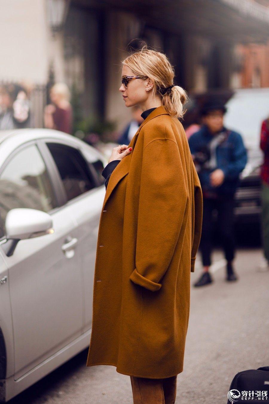 【新提醒】一件驼色大衣,hold住整个冬天! - 实拍街拍 - 穿针引线服装论坛