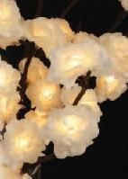 Shelley B Home and Holiday - White Rose Lighted Floral 60 lights, $31.50 (http://shelleybhomeandholiday.com/white-rose-lighted-floral-60-lights/)