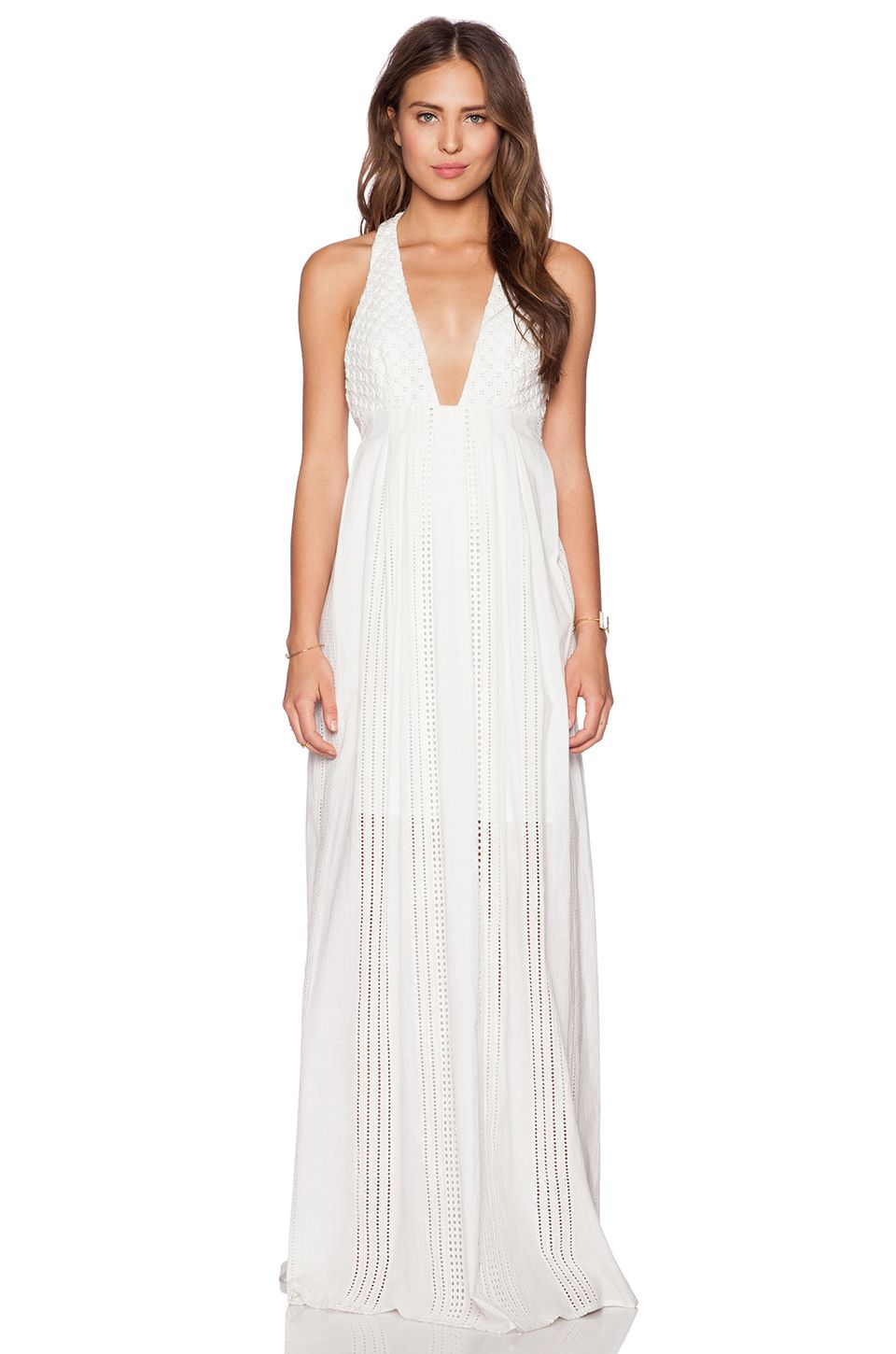 THE JETSET DIARIES North of Fira Maxi Dress in White | REVOLVE ...