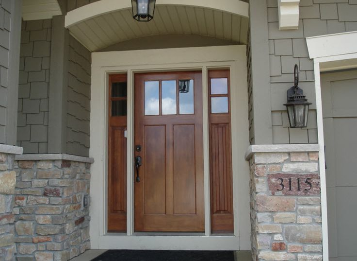 Brilliant Design Craftsman Front Door With Sidelights Stylish 17 Best Ideas About C Craftsman Front Doors Fiberglass Exterior Doors Craftsman Style Front Doors