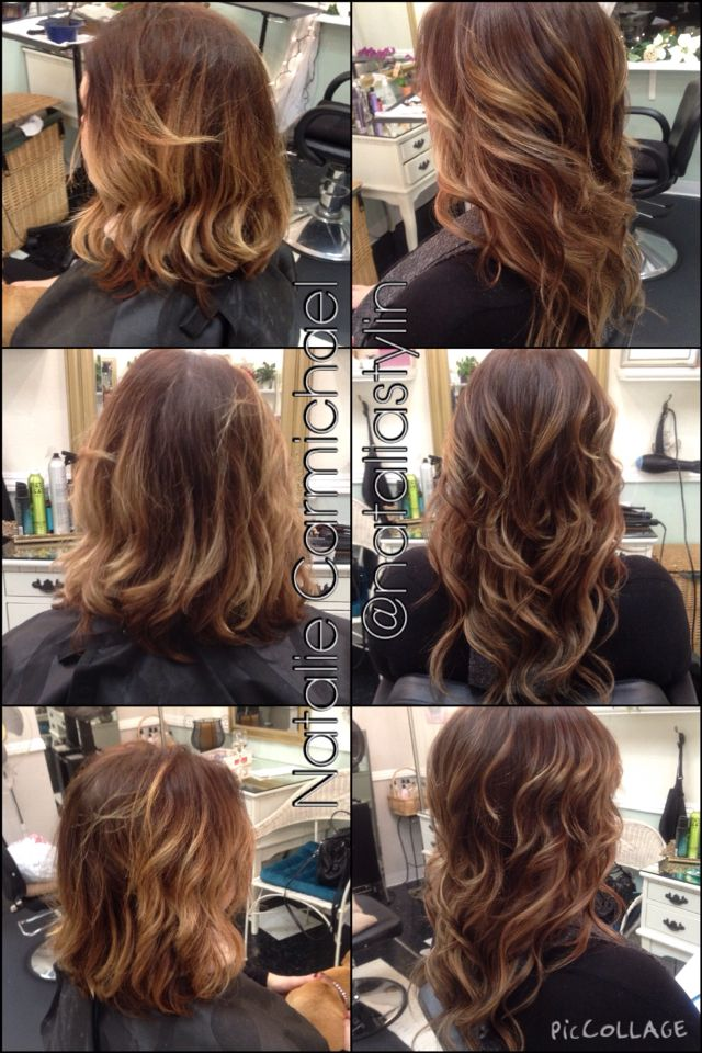 Balayage Haircolor Before And After Babe Hair Tape In Extensions