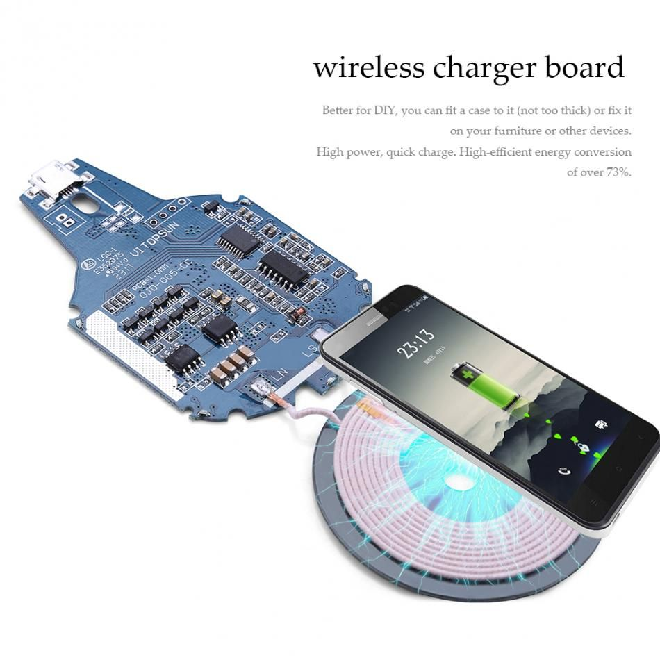 5v 2a Micro Usb Qi Standard Wireless Phone Charger Pcb Circuit Board Camera Lens And Digital Photography Concept Diy Charging For Mobile