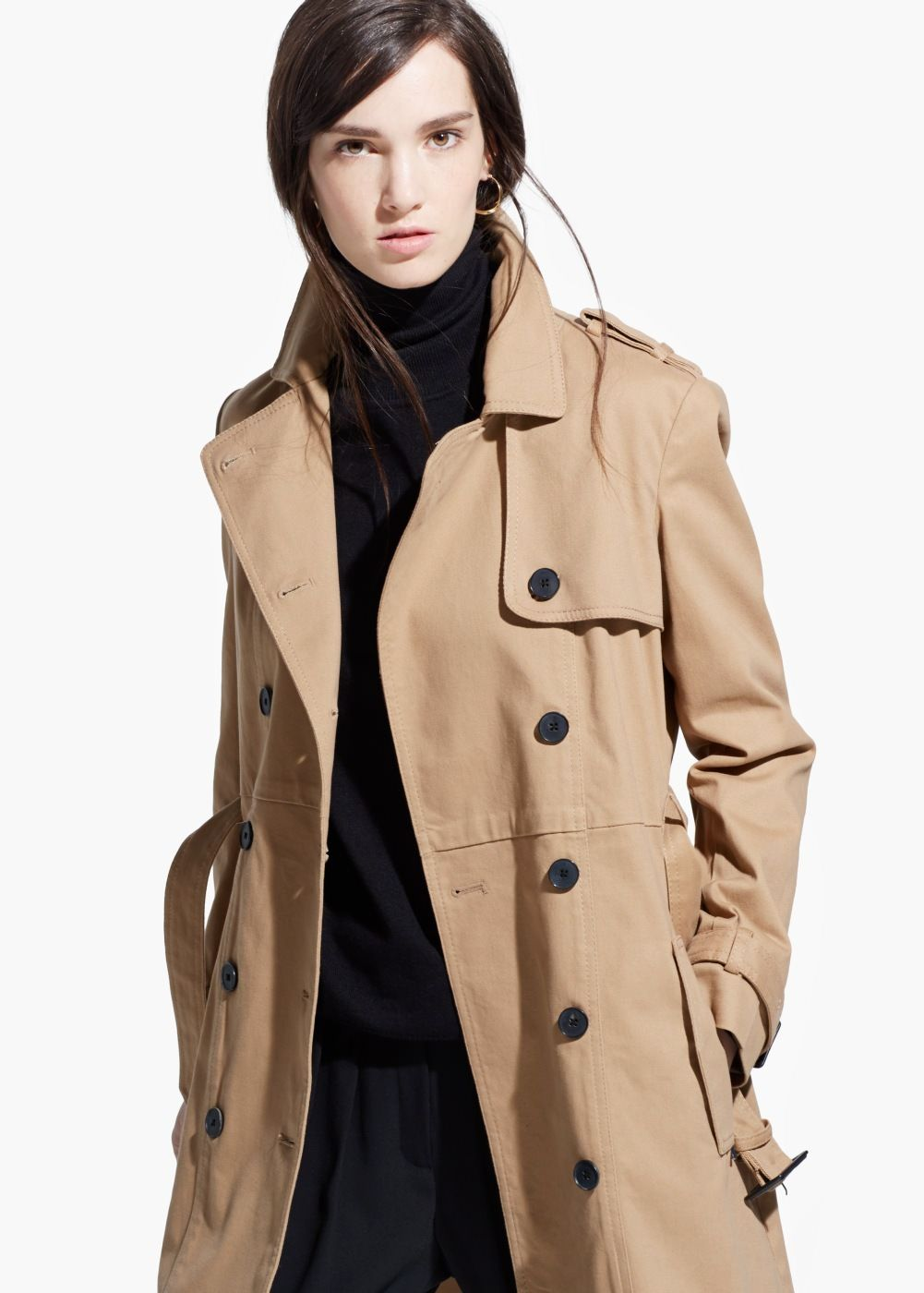 Classic cotton trench coat - Women | Coats and Outerwear | Pinterest ...