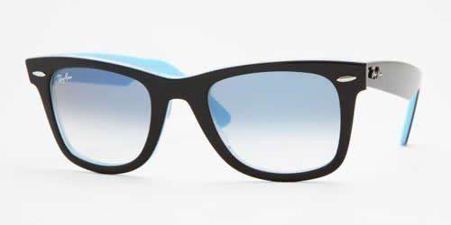 5fffdff04f6 Ray Ban Sunglasses Original Wayfarer RB2140 1001 3F Black on Azure Crystal  Blue Gradient