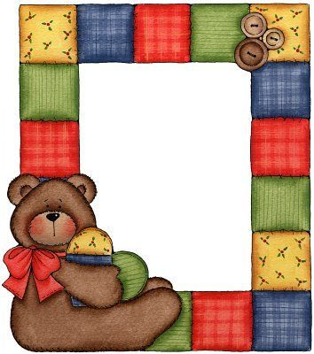 TEDDY BEAR FRAME | FRAMES / BORDERS / CORNERS | Pinterest | Teddy ...