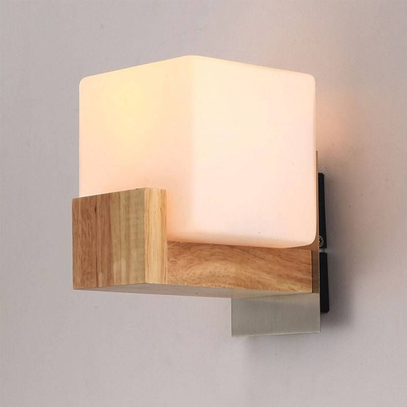 Contemporary mia wooden and glass cube wall light glass cube cube contemporary mia wooden and glass cube wall light glass cube cube and contemporary aloadofball Choice Image