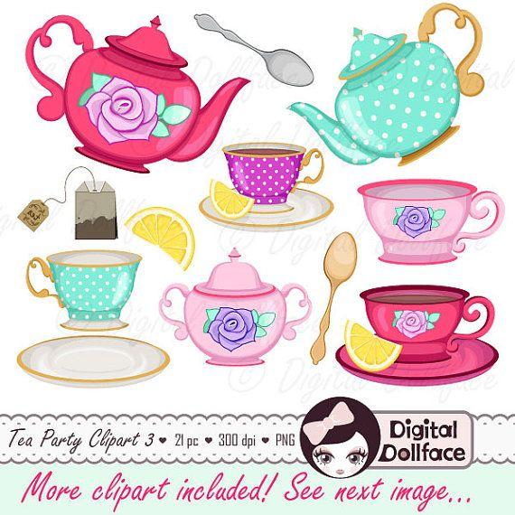 tea cup clip art tea party bridal shower clipart high tea teapot tea set