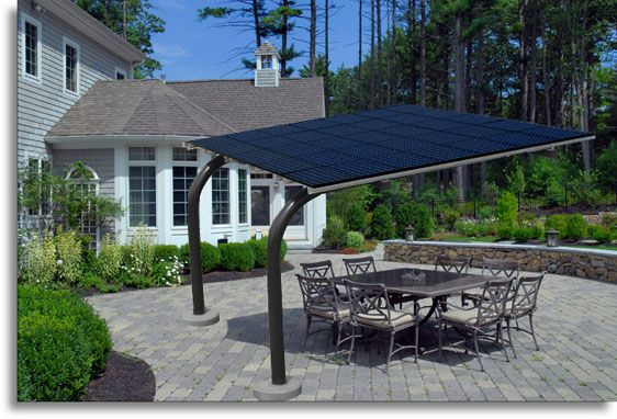 Solar Carport Structures Patio Backyard Canopy Solar Panels
