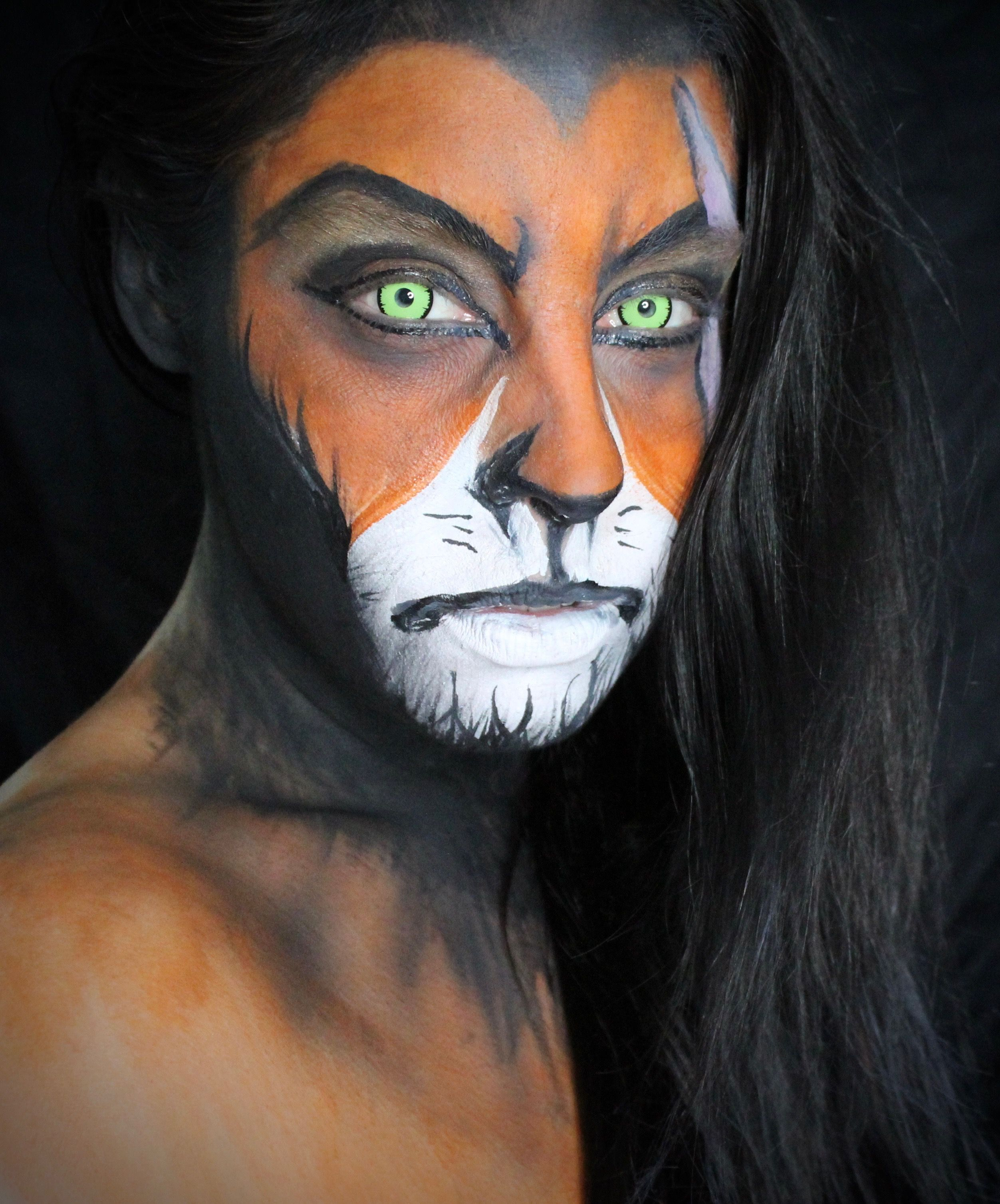 """Scar Makeup from """"The Lion King."""" The Lion King Makeup"""