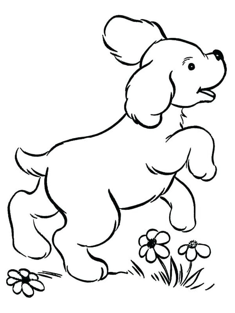 A Puppy Coloring Pages Puppies Are Small Dogs Puppies Are Animals That Love To Socialize And Spend Puppy Coloring Pages Dog Coloring Page Easy Coloring Pages