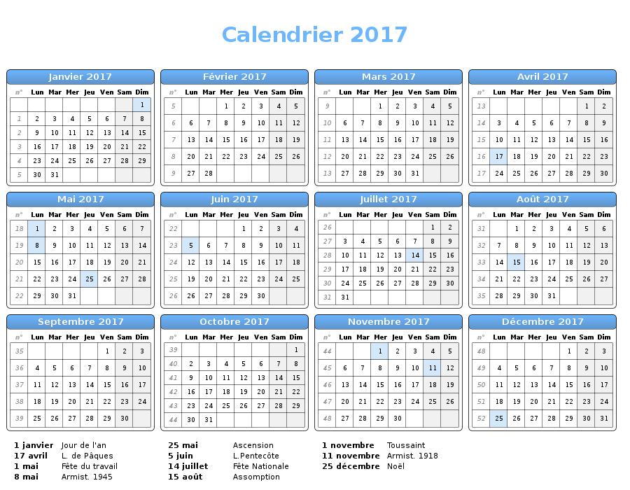 Calendrier 2017 personnaliser et imprimer ecole - Creer un calendrier photo ...