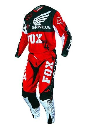 2013 fox 360 honda jersey pant glove combo in red 269 for Fox honda used cars