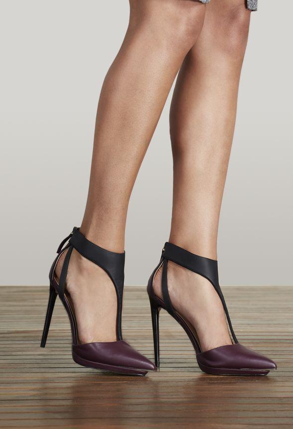 Lila t-strap heels