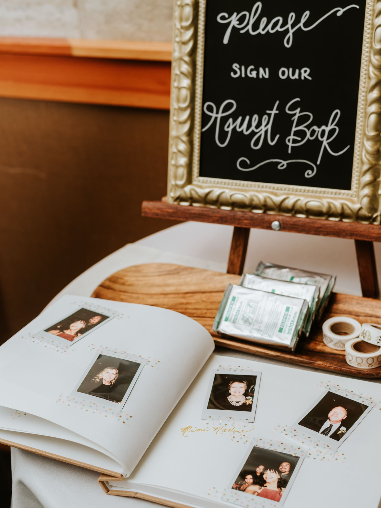 wedding guest book inspiration alternative guest book ideas fujifilm instax polaroid guest book diy wedding guest book photo by stolen glimpses