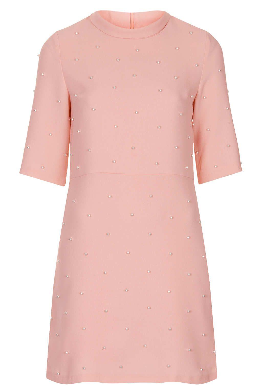 Pink Pearls Dress by Jane- High Neck! #TopshopPromQueen   Topshop ...