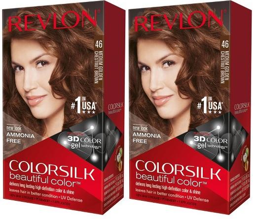 Revlon ColorSilk Beautiful Color™ Hair Color - 46 Medium Golden Chestnut Brown (Pack of 2)