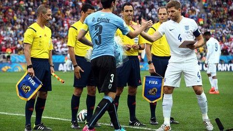 Diego Godin and Steven Gerrard