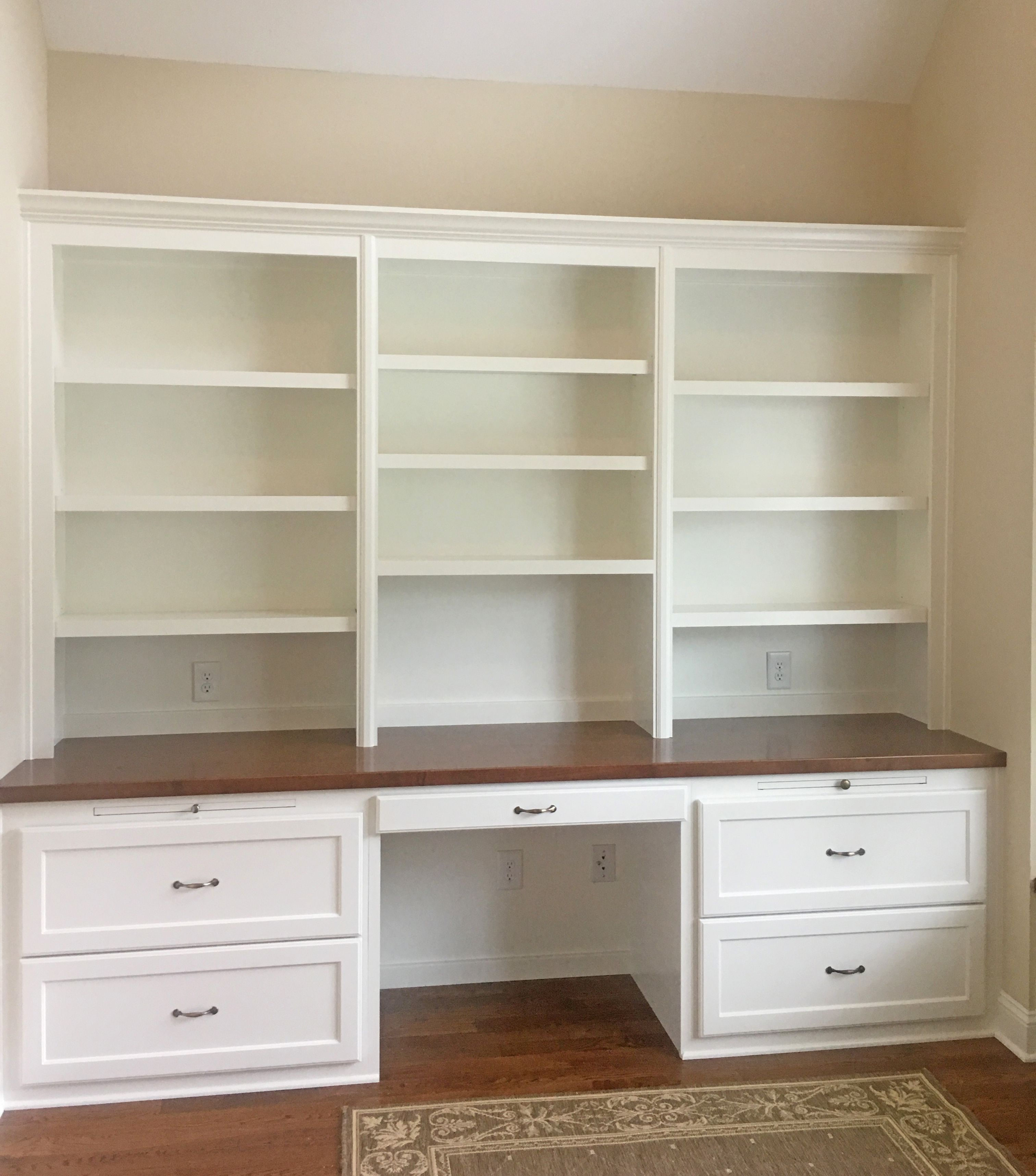 Custom Built In Desk With Shaker Style Soft Close Drawers Writing