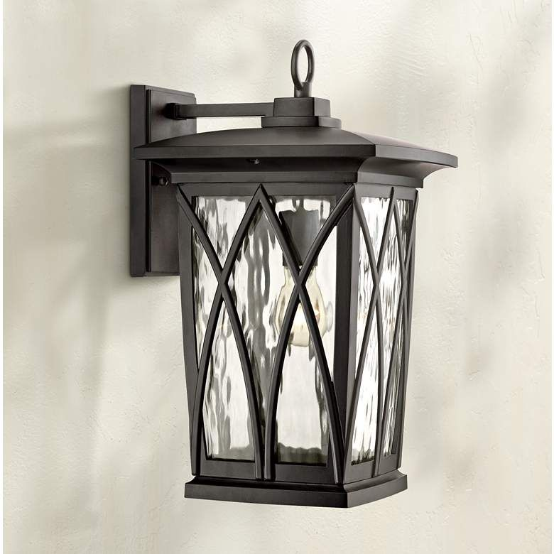 Quoizel Grover 17 1 2 H Mystic Black Outdoor Wall Light 8c991