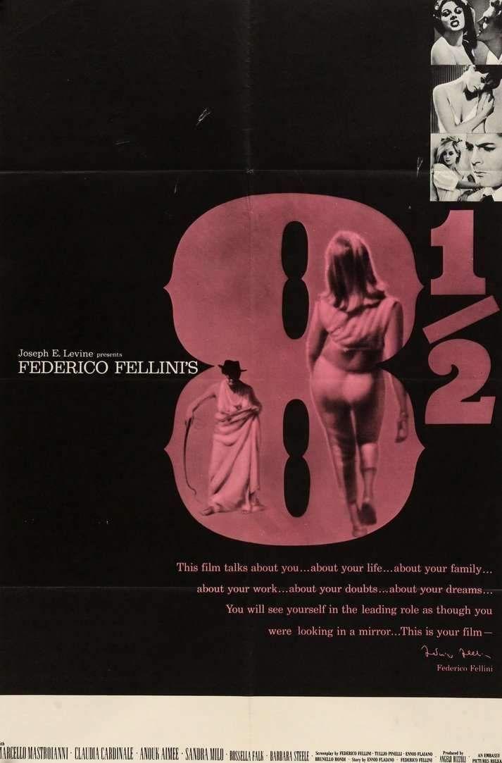 8 1 2 1963 Movie Poster Art Movie Posters Vintage Movie Posters