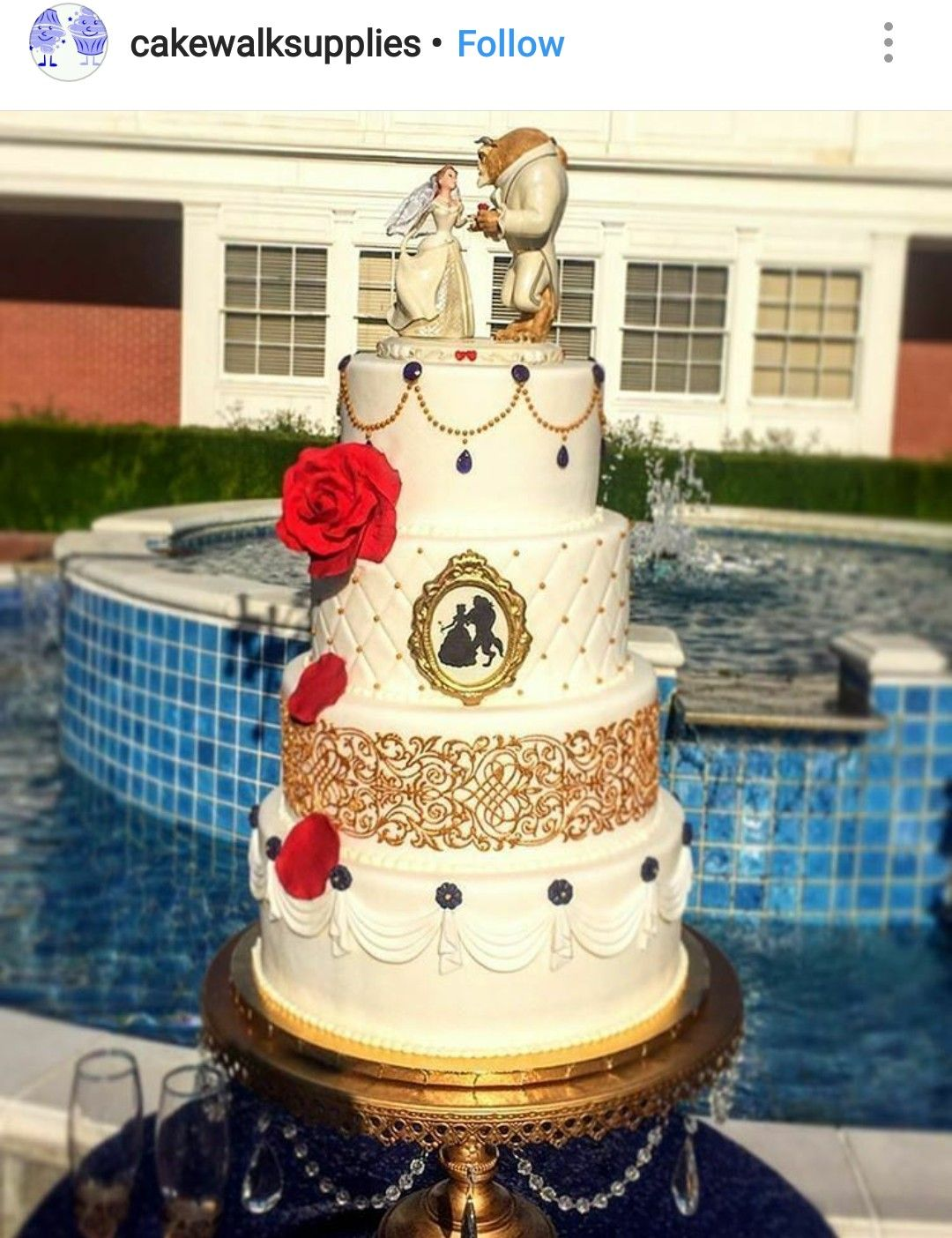 Beauty and The Beast Inspired Wedding cake Beauty The Beast