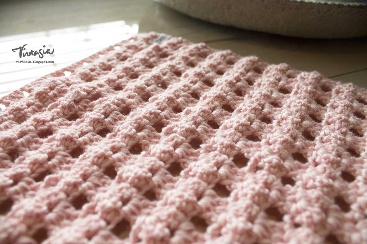 Virkattu tiskirätti. Crochet dishcloth. #virkkaus #tiskirätti #crochet #dishcloth #virtasia