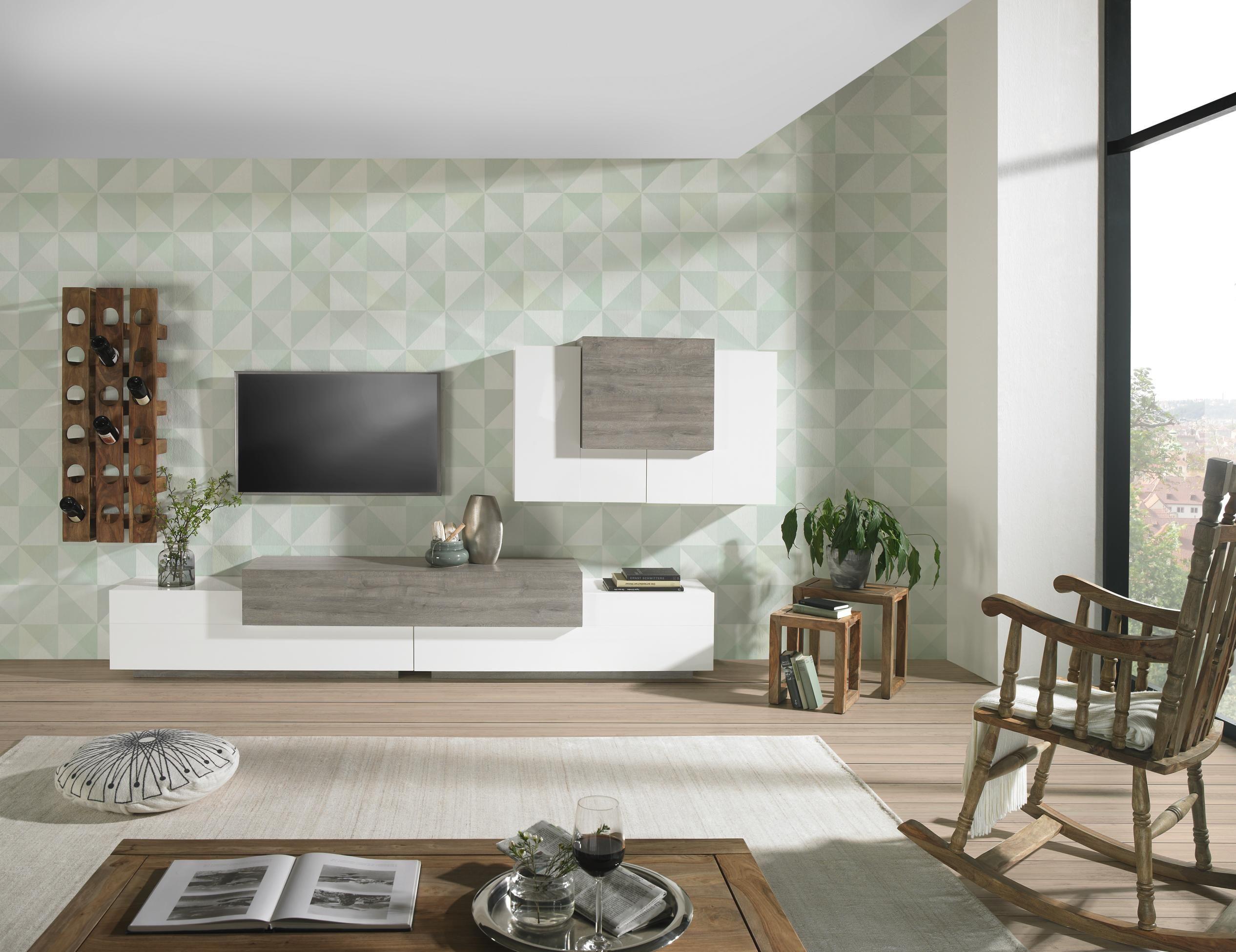 Minimalistische Wohnwand einfach schön durch einen klaren Stil