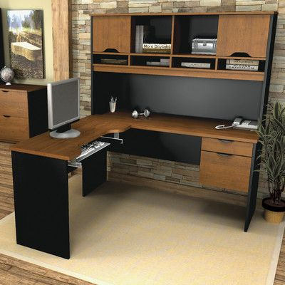 Bestar Innova Executive Desk With Accessories Finish Tuscany