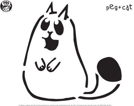 Peg + Cat Pumpkin Carving Templates  Happy Halloween!  PBS - pumpkin carving template