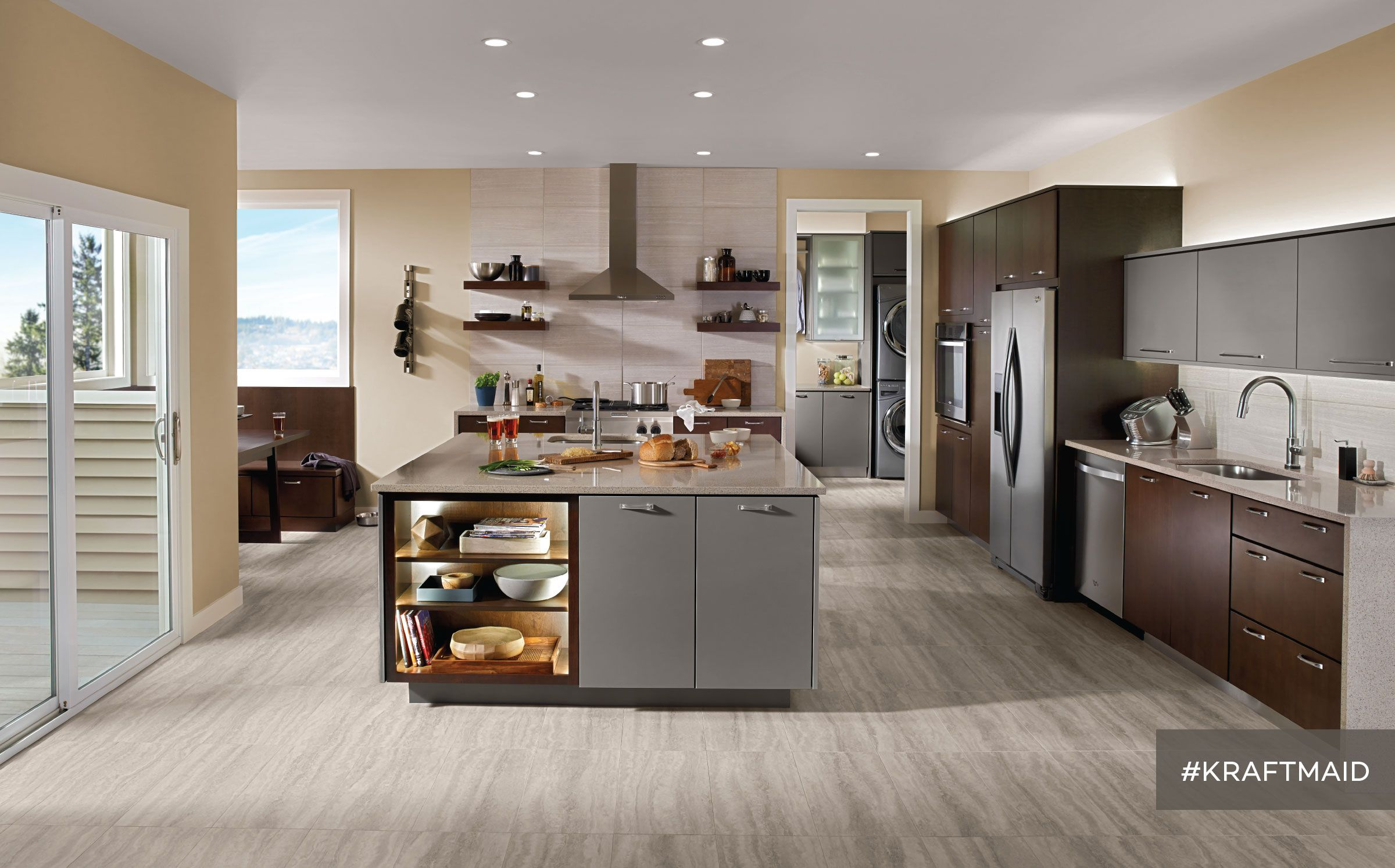 Contemporary Dining Room Cabinets Best This Contemporary Kitchen Sets The Mood For The Whole House—With Design Ideas