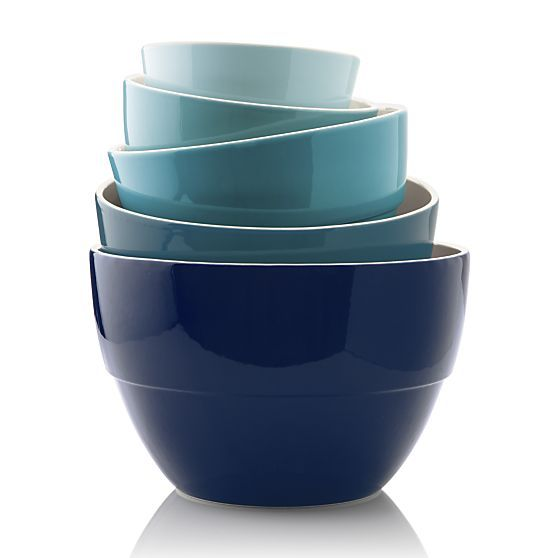 5 Piece 5 75 10 5 Market Bowl Set In Mixing Bowls Crate And Barrel Crate And Barrel Kitchen Plans Bowl