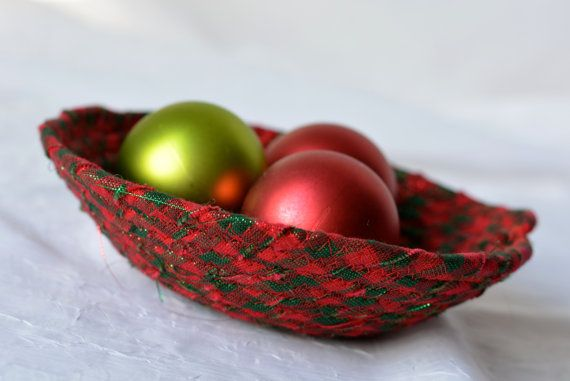 Christmas Candy Basket $5 #Handmade #Holiday #Bowl by #WexfordTreasures