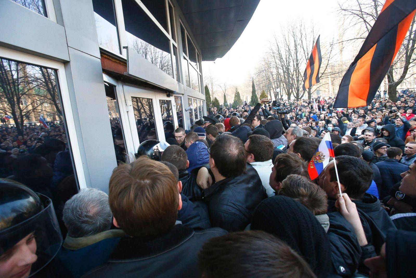 Donetsk Maaliskuu 2014 Kuva Lahteesta Abcnews Go Com Yliopisto