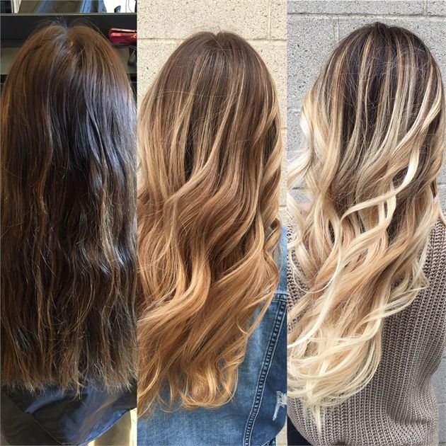 Two Sessions Of Balayage For A One Of A Kind Color Design Cool