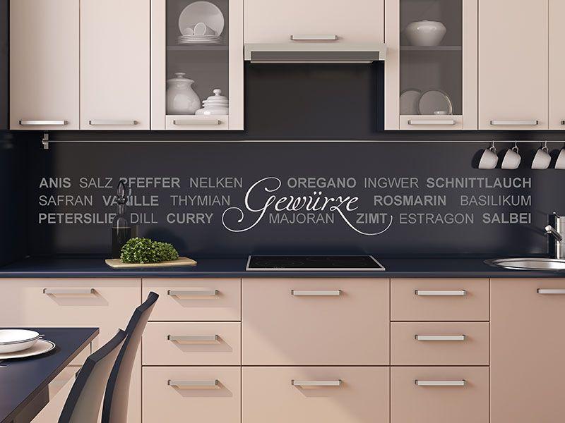 Einfallsreiche Küchendekoration Wandtattoo Gewürze #Küche - bilder für die küche