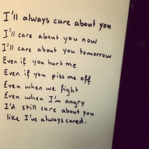 I Care About You Quotes I always will care about you babe. You are my everything in this  I Care About You Quotes
